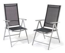 Bild zu Giardino AY 455 Aluminiumstuhl (7-fach verstellbar, 2er Set) für 54,51€