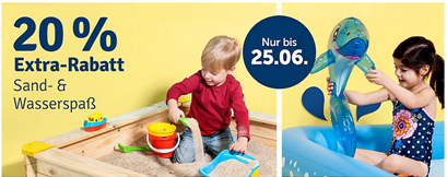 Bild zu MyToys: 20% Extra Rabatt auf Sand- & Wasserspaß (ab 29€ MBW)