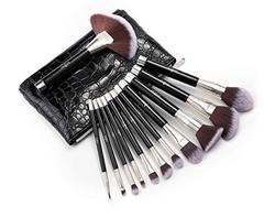 Bild zu Anjou Make Up Pinsel-Set aus weichem Kunsthaar (12-teilig) für 9,99€