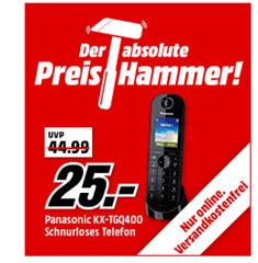 Bild zu PANASONIC KX-TGQ400 Schnurloses Telefon für 25€ (Vergleich: 40,71€)