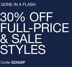 Bild zu GAP: Sale mit bis zu 60% Rabatt + 30% Rabatt auf Alles