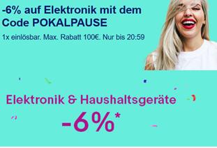 Bild zu [bis 20:59 Uhr] 6% Rabatt bei eBay auf Elektronik