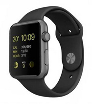Bild zu [B-Ware/wie neu] Apple Watch Sport 38mm Space Grau Alu Series 1 Gen.2 für 189€