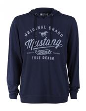Bild zu Mustang Herren Sommer Kapuzensweater Hoody mit Logo Print für je 23,85€