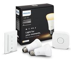 Bild zu Philips Hue White Ambiance E27 LED Lampe Starter Set, zwei Lampen inkl. Bridge und Dimmschalter für 61,58€ (Vergleich: 88,01€)