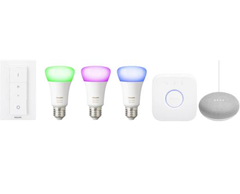 Philips Lighting Hue Starterkit E27 10 W RGBW   Google Home mini kaufen