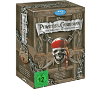 Pirates of the Caribbean 1-4 - (Blu-ray)