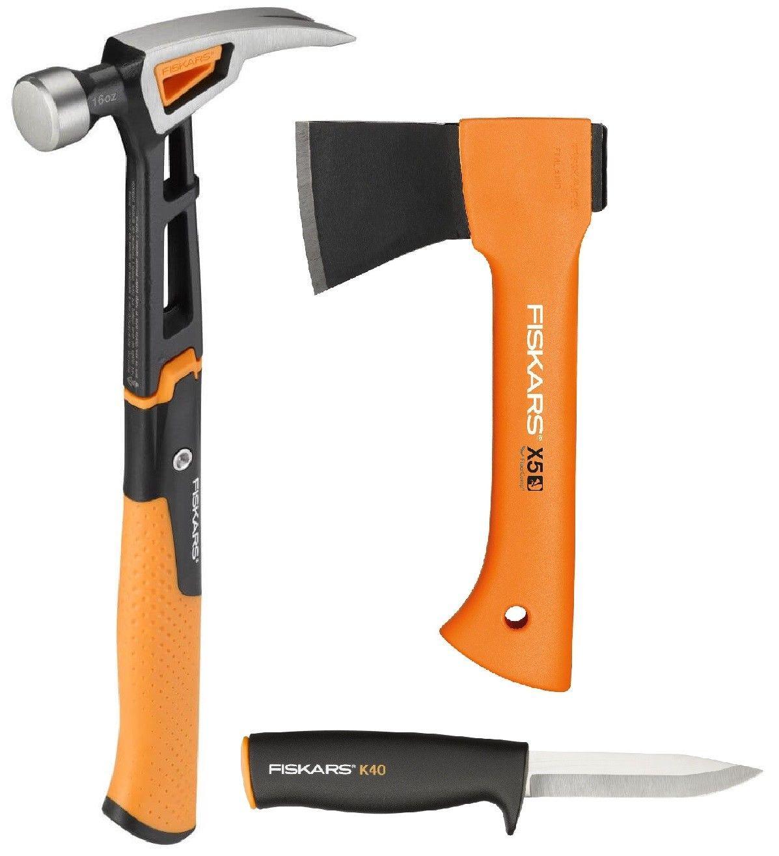Bild zu Fiskars Freizeitbeil X5-XXS, Universalmesser K40 und Universalhammer M für 49,99€