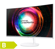 Samsung C32H711Q - 80 cm (32 Zoll), LED, Curved, VA-Panel, WQHD, AMD FreeSync, Mini-DisplayPort
