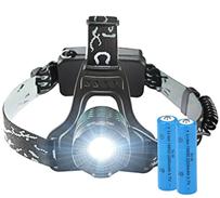 TOPELEK LED Stirnlampe, Superheller Kopflampe Kopfleuchten mit 3000lm, 4 Licht-Modi, 2 Wiederaufladbar[...]