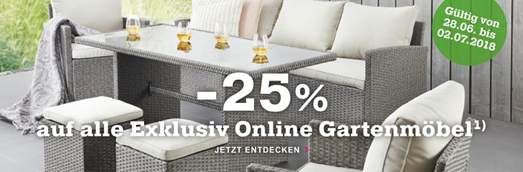 Bild zu Mömax: 25% Rabatt auf alle Exklusiv Online Gartenmöbel