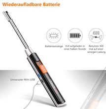 Amazon de Feuerzeug, Tacklife-ElY02 Flammloses Stabfeuerzeug, 400 Male Pro Ladung
