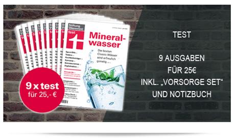"""Bild zu 9 Ausgaben Finanztest (Vergleich 47,97€) + Finanztest """"Vorsorge-Set (Vergleich: 14,90€) + Notizbuch für 30€"""