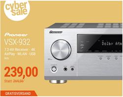 Bild zu Pioneer VSX-932 7.2 AV Receiver für 239€ (Vergleich: 269€)