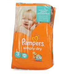 Bild zu Pampers Windeln Simply Dry Gr. 3 (90 Stück) für 9,99€ (Vergleich: ~15€)