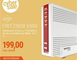 Bild zu AVM FRITZ!Box 6590 Kabel Router mit VoIP Telefonie & DECT für 199€ (Vergleich: 221,50€)