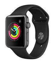Bild zu [eBay Plus] Apple Watch Series 3 42mm Aluminiumgehäuse Space Grau Sportarmband Schwarz für 332,91€ (Vergleich: 375,35€)