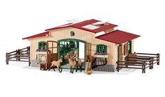Bild zu Schleich 42195 – Pferdestall mit Pferden und Zubehör für 52,93€ (Vergleich: 71,89€)