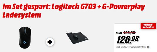 Bild zu Logitech G703 Gaming Maus + G-Powerplay Ladesystem für 126,98€