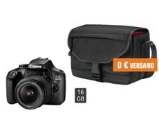 Bild zu CANON EOS 4000D Kit (mit 18-55mm Objektiv) Spiegelreflexkamera inkl. Tasche, 16 GB Speicherkarte für 249€ (über 100€ Ersparnis)