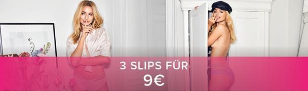 Nur für kurze zeit 3 Slips zum Preis von 19€