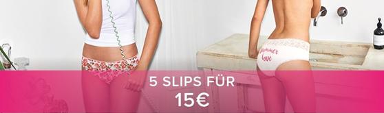 Nur für kurze zeit 5 Slips zum Preis von 15€