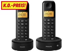 PHILIPS D1352B 38 2er Pack Schnurlostelefon mit Anrufbeantworter