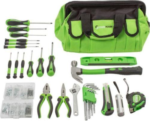 Bild zu 756-teilige Starkmann Greenline Werkzeugtasche für 19,99€ (Vergleich: 30,66€)