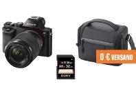 SONY Alpha 7 KB Kit   Tasche   Speicherkarte Systemkamera, 24 3 Megapixel, 2 68 opt Zoom, Full HD 1920[...]