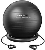 TOPELEK Gymnastikball Sitzball von 75cm Pezziball im Gym-Home-Büro mit Widerstandsbändern,Stabilitäts[...]