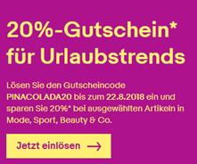 20%-Gutschein – Vollständige Gutscheinbedingungen eBay de