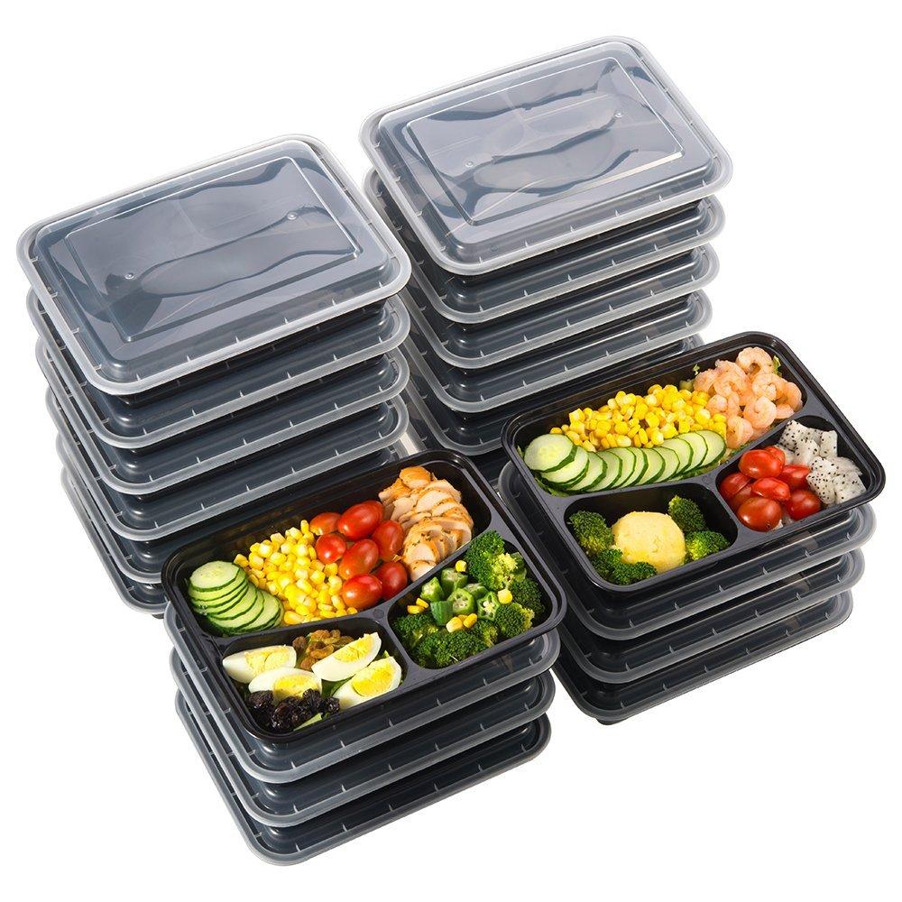 Bild zu [Prime] 20er Pack Sable Lunch Boxen mit Deckel zum Transport oder zur Aufbewahrung von Essen für 13,99€