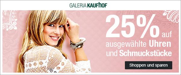Bild zu Galeria Kaufhof Dienstagsangebot: 25% Rabatt auf ausgewählte Uhren und Schmuckstücke