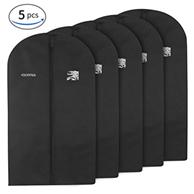 Esonmus Kleidersack Kleidersäcke lang 5er Set Anzugsack Kleiderschutz 60 x 128 cm, Schwarz Amazon
