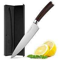 homgeek Küchenmesser, Kochmesser, Profi 20cm Chefmesser, Gemüsemesser, Allzweckmesser, Deutscher Edel[...]