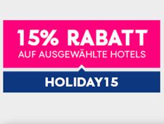 Bild zu eBookers: 15% Rabatt auf viele Hotelbuchungen