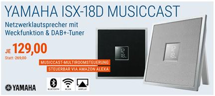 Bild zu Yamaha ISX-18D MusicCast (Multiroom System mit Airplay, Bluetooth) für je 129€ (Vergleich: 148€)
