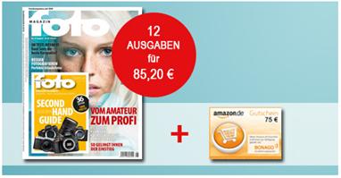"""Bild zu 12 Ausgaben der Zeitschrift """"fotoMagazin"""" für 85,20€ + 80€ Amazon Gutschein oder 75€ Verrechnungsscheck"""
