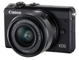 Bild zu Canon EOS M100 Systemkamera (24,2 MP, WLAN, NFC, Bluetooth) Kit EF-M 15-45mm für 299€ (Vergleich: 366,89€)