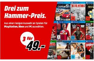 Bild zu MediaMarkt: 3 Games (PS4, Xbox oder PC) für 49€ (oder 3 Games für 79€)