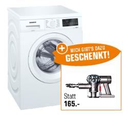 Bild zu SIEMENS WU14Q420 iQ500 (8kg) Waschmaschine + DYSON V6 Trigger Handstaubsauger für 538,90€ (Vergleich: 697,89€)