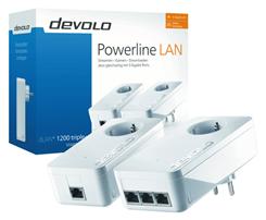 Bild zu devolo dLAN 1200 triple+ Starter Kit für 99,90€ (Vergleich: 124,89€)
