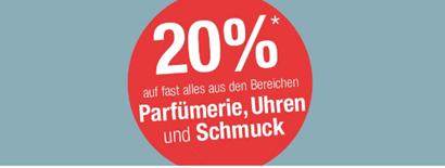 Bild zu Galeria Kaufhof: 20% Rabatt auf Parfümerie, Uhren & Schmuck