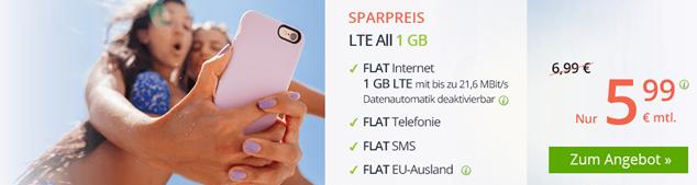 Bild zu WinSIM: monatlich kündbarer Tarif mit 1GB LTE Datenflat, SMS und Sprachflat für 5,99€/Monat