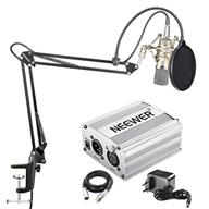Neewer NW-700 Kondensator Mikrofon Kit - Mic und 48V Phantomspeisung (Silber)