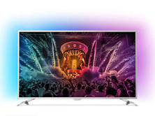 Philips 123cm 49 Zoll Ultra HD 4K LED Fernseher 3-fach Ambilight Android