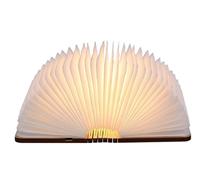 Tomshine Stimmungsbeleuchtung,Buch Lampe,Nachttischlampe,Tischleuchte,Warmweiß aus Holz,Papier
