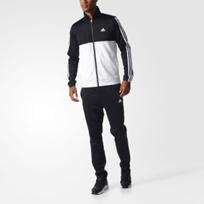 adidas Herren Back 2 Basics 3-Streifen Trainingsanzug Schwarz Freizeit eBay