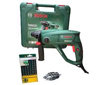 Bild zu Plus: Bosch PBH Universal+ 2500 SRE Bohrhammer inkl. 6-tlg. SDS-Plus Bohrer-Set für 109,99€ inkl. Versand (Vergleich: 130€)