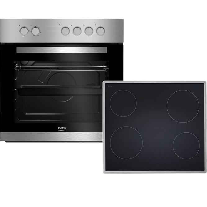 Bild zu Beko BUC22020X Einbauherd-Set mit Glaskeramik-Kochfeld für 253€ (Vergleich: 289,99€)